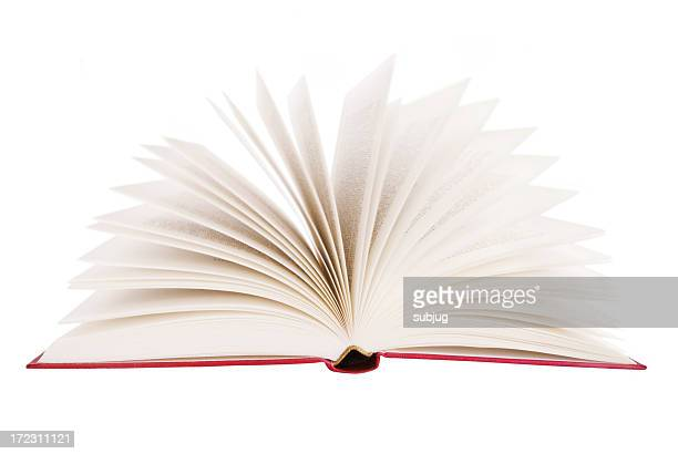 singe book with it's pages fanned out - open book stock photos and pictures