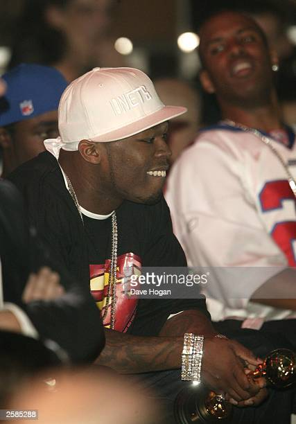Singer 50 Cent at the '2003 World Music Awards' at the Monte Carlo Sporting Club on October 12 2003 in Monaco