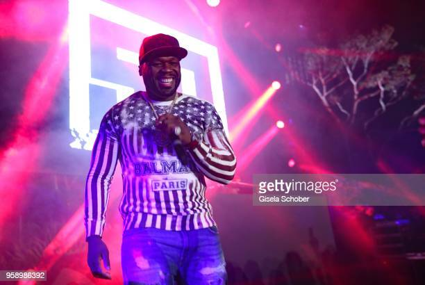Singer 50 Cent performs during the party in Honour of John Travolta's receipt of the Inaugural Variety Cinema Icon Award during the 71st annual...