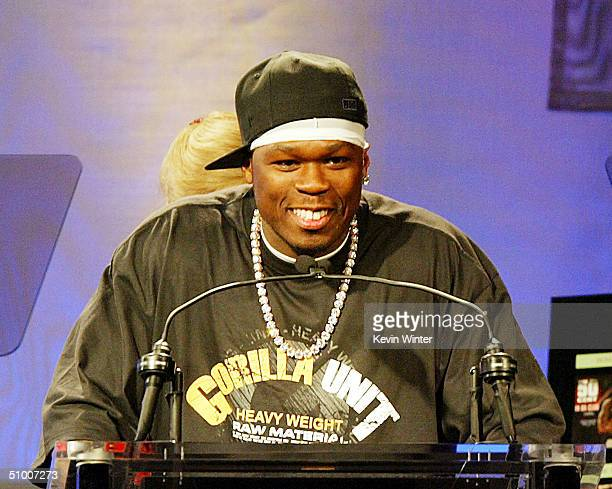 Singer 50 Cent receives Songwriter of the Year Award at ASCAP's 17th Annual Rhythm Soul Music Awards at the Beverly Hilton Hotel on June 28 2004 in...