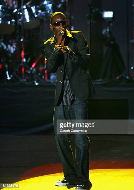 Singer 9ice onstage during the 46664 Concert In Celebration Of Nelson Mandela's Life held at Hyde Park on June 27 2008 in London England