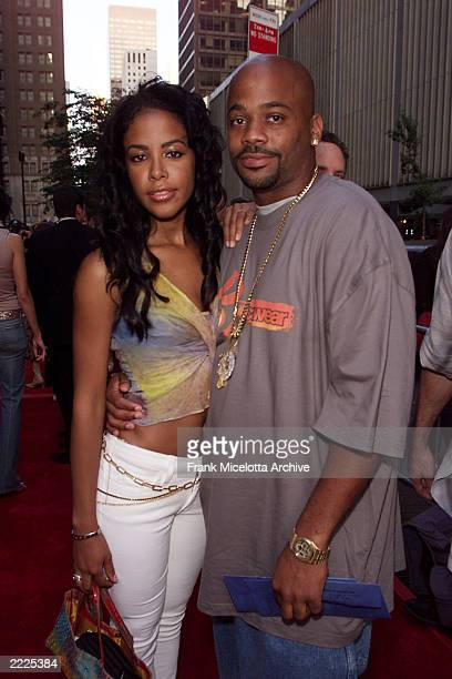 Singer Aaliyah and Damon Dash arrive for the world premiere of the 20th Century Fox film 'Planet of the Apes' at the Ziegfeld Theater in New York...