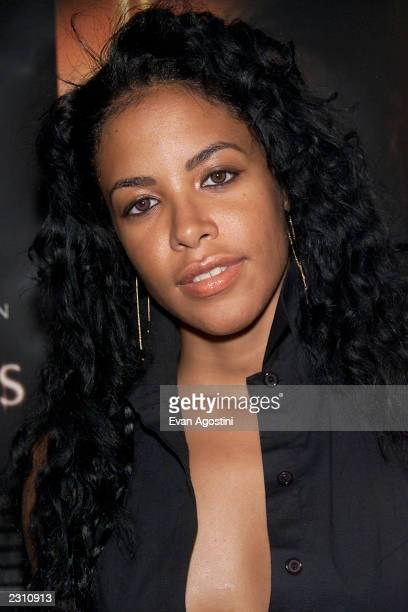 Singer Aaliyah arrives at the World Premiere of The Others at the Paris Theater in New York City Photo Evan Agostini/ImageDirect