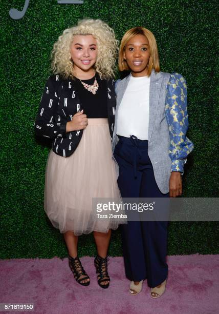 Singer Aaliyah Rose and global activist Swati Mandela attend Stylecon OC at OC Fair and Event Center on November 4 2017 in Costa Mesa California