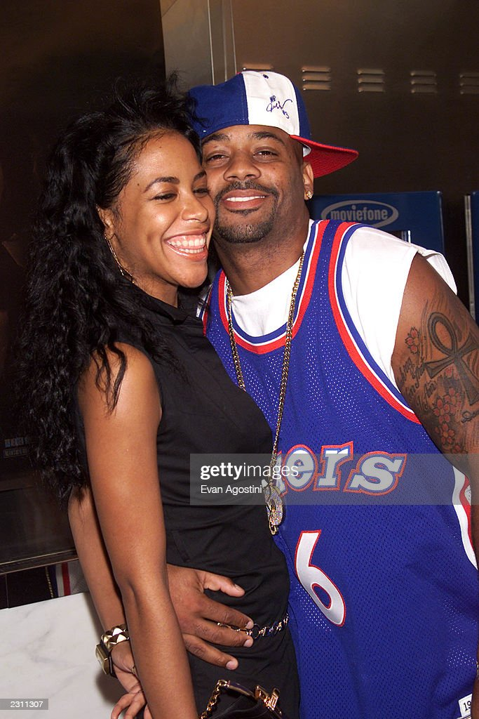 Singer Aaliyah with boyfriend Damon Dash arrive at the World Premiere of 'The Others' at the Paris Theater in New York City. Photo: Evan Agostini/ImageDirect