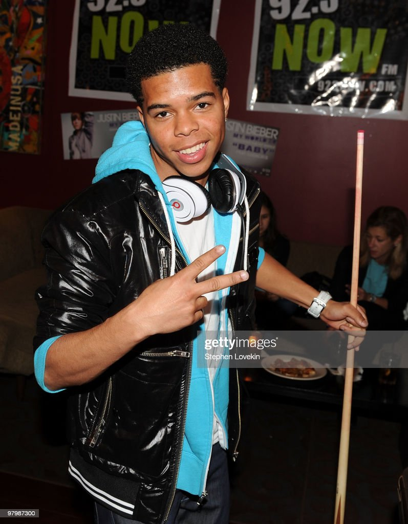 Singer Aaron Fresh attends 92.3 NOW's 'Bowling with Bieber' record release party at Lucky Strike Lanes & Lounge on March 23, 2010 in New York City.
