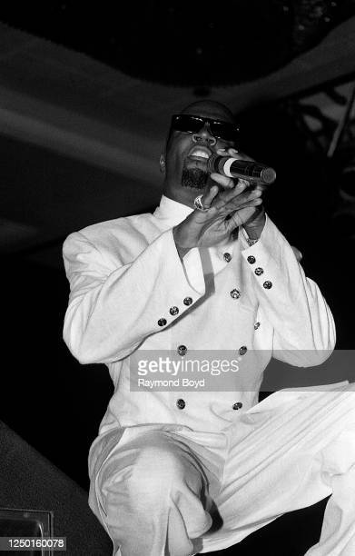Singer Aaron Hall performs at the Hyatt Hotel in Chicago, Illinois in June 1994.