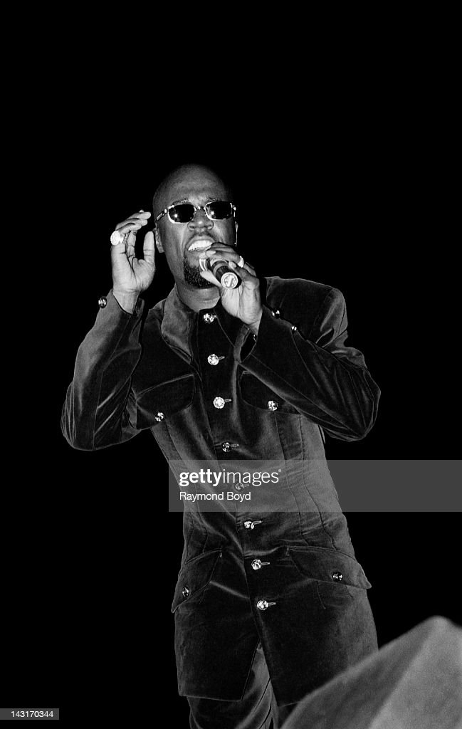 Singer Aaron Hall performs at the U.I.C. Pavilion in Chicago, Illinois in APRIL