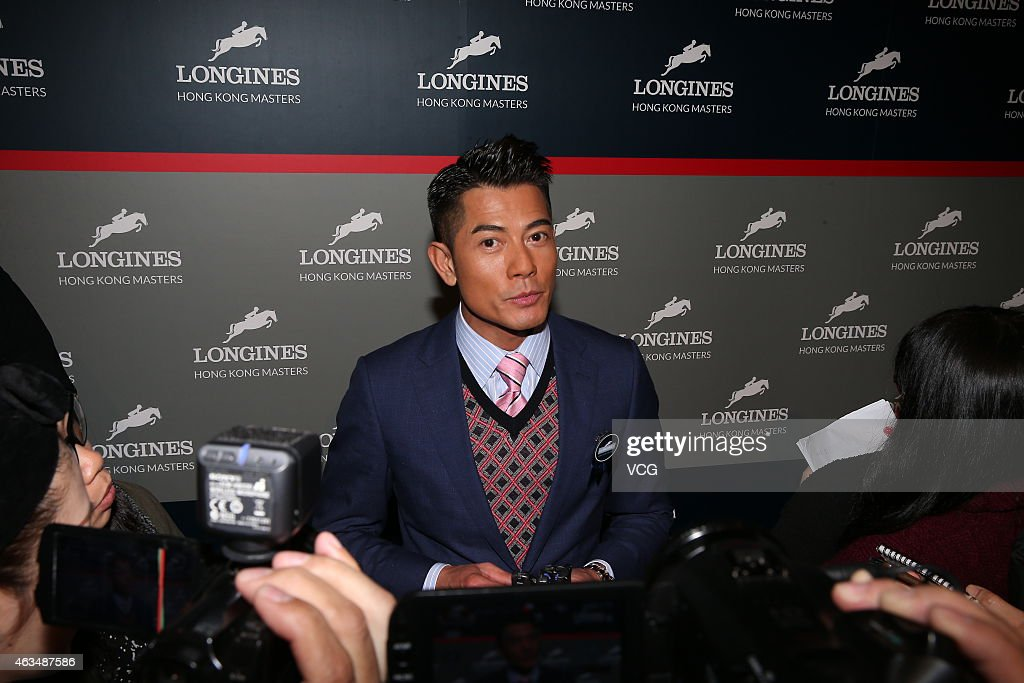 Aaron Kwok Attends Awarding Ceremony Of Longines Hong Kong Masters