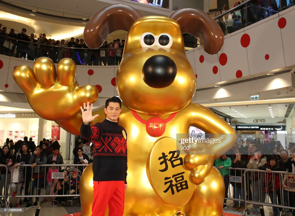 Aaron Kwok Attends New Year Celebration In Hong Kong