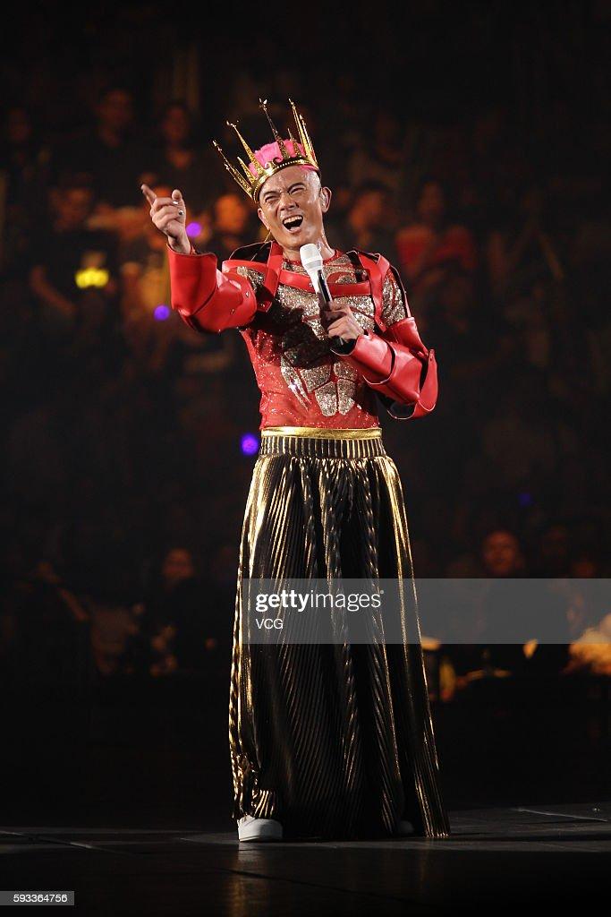 Aaron Kwok Performs In Hong Kong