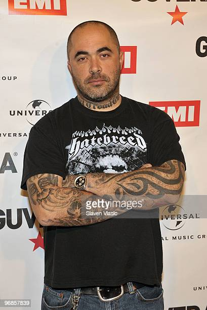 Singer Aaron Lewis attends the Guvera PreLaunch Party at the Metropolitan Pavilion on February 18 2010 in New York City