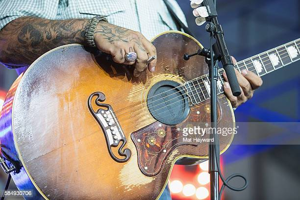 Singer Aaron Lewis performs on the Next From Nashville stage during the Watershed Music Festival at Gorge Amphitheatre on July 31 2016 in George...