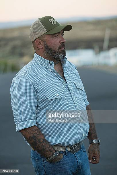 Singer Aaron Lewis poses for a photo during the Watershed Music Festival at Gorge Amphitheatre on July 31 2016 in George Washington