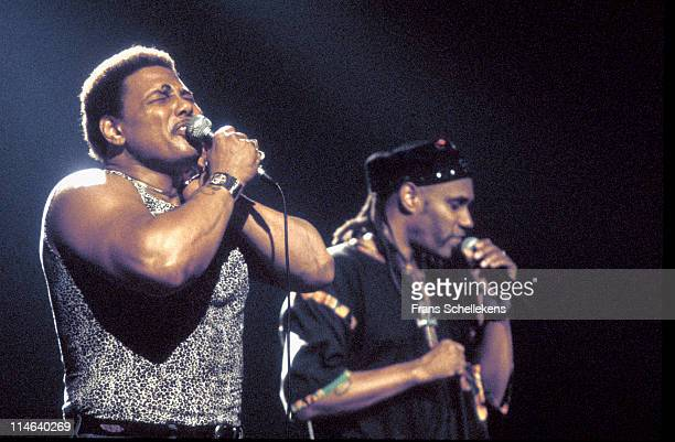 Singer Aaron Neville from The Neville Brothers performs live on stage at Paradiso in Amsterdam, Netherlands on 2nd October 1992.