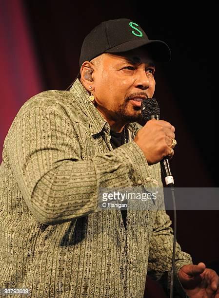 Singer Aaron Neville performs during the 41st Annual New Orleans Jazz Heritage Festival Presented by Shell at the Fair Grounds Race Course on May 1...