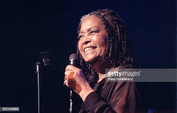 Singer Abbey Lincoln performs on July 11th 1999 at the North Sea Jazz Festival in the Hague Netherlands