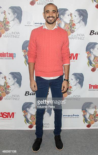 Singer Abel Pintos attends India Martinez concert photocall at Barclaycard Center on December 6 2014 in Madrid Spain