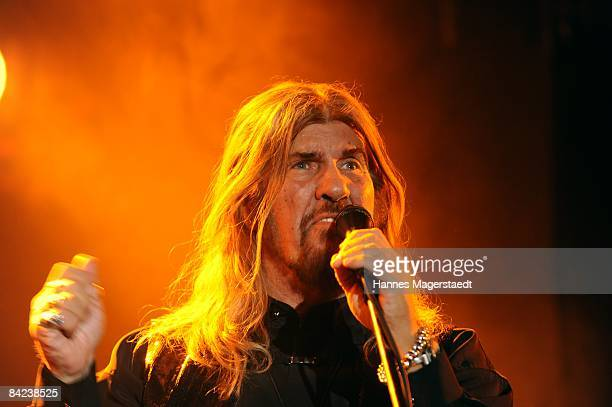 Singer Abi Ofarim performs during his Comeback Concert in the Schlachthof in Munich on January 10 2009 in Munich Germany