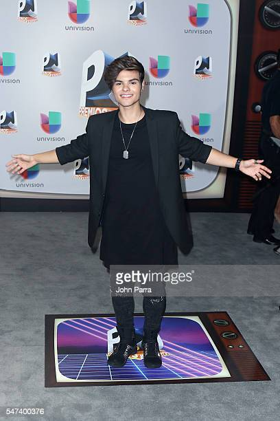 Singer Abraham Mateo attends the Univision's 13th Edition Of Premios Juventud Youth Awards at Bank United Center on July 14, 2016 in Miami, Florida.