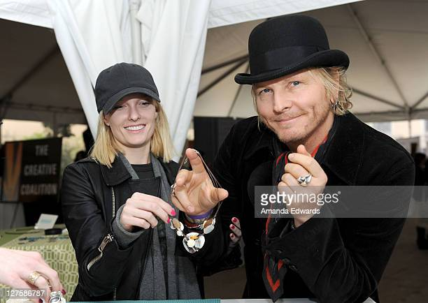 Singer Ace Harper of the Darling Stilettos and drummer Matt Sorum of Velvet Revolver attend Silpada at Kari Feinstein's Academy Awards Style Lounge...