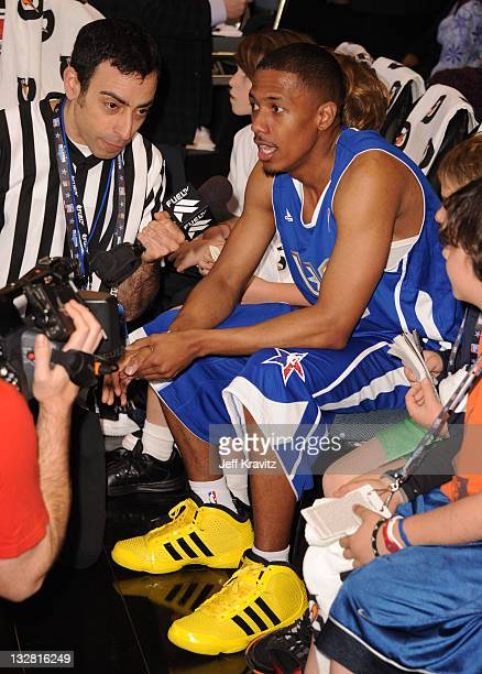 Singer/ Actor Nick Cannon during the 2011 BBVA NBA All-Star Celebrity Game at Los Angeles Convention Center on February 18, 2011 in Los Angeles,...
