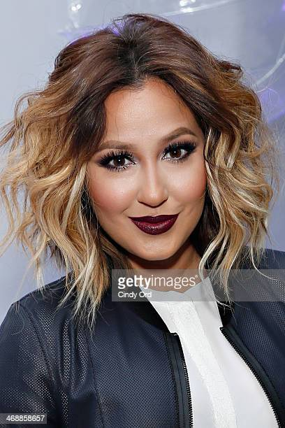 Singer/ actress Adrienne Baillon attends the Elie Tahari presentation during MercedesBenz Fashion Week Fall 2014 on February 11 2014 in New York City