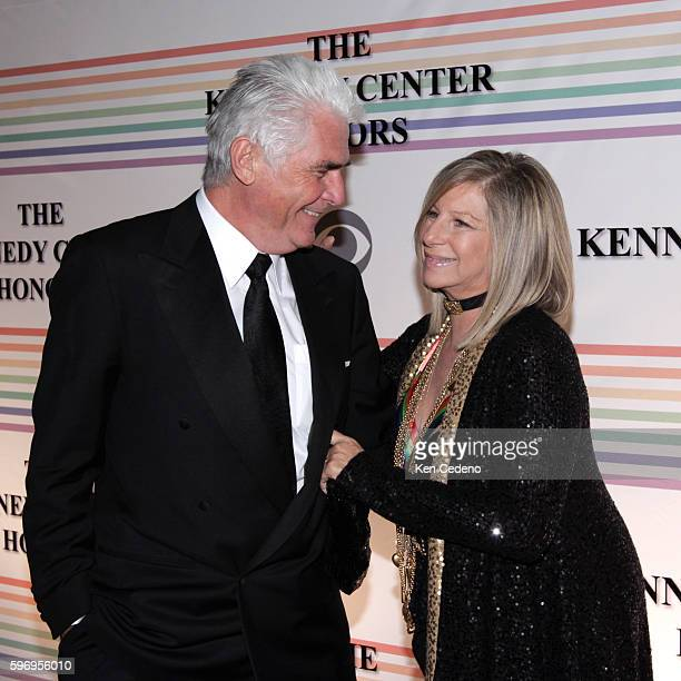 Singer actress and director Barbra Streisand and her husband actor James Brolin arrive at the Kennedy Center for the Kennedy Center Honors