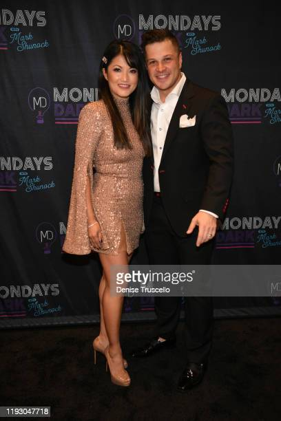 Singer/ actress and entertainer Mark Shunock arrive at the 6th anniversary of Mondays Dark With Marck Shunock at the Pearl Concert Theater at Palms...