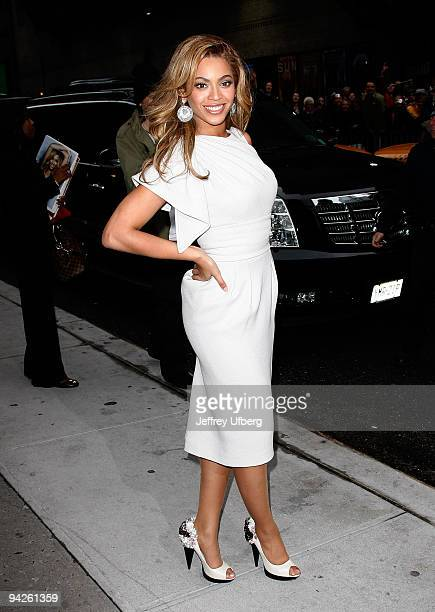 Singer / Actress Beyonce Knowles visits Late Show with David Letterman at the Ed Sullivan Theater on April 22 2009 in New York City