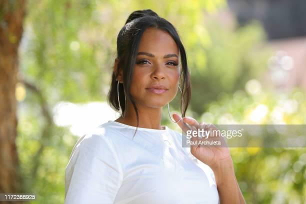 Singer / Actress Christina Milian visits Hallmark's Home Family at Universal Studios Hollywood on September 04 2019 in Universal City California