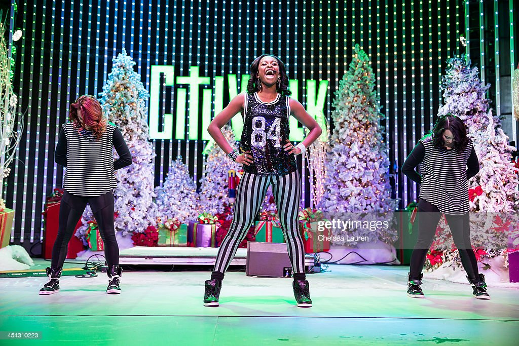 Singer / actress Coco Jones performs at The Salvation Army's 4th annual Rock The Red Kettle concert at 5 Towers Outdoor Concert Arena on December 7, 2013 in Universal City, California.