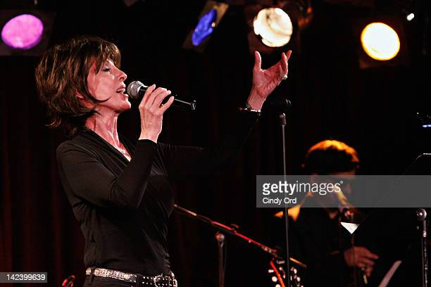 Singer/ actress Deana Martin performs at The Davy Jones Memorial An Evening of Music Memories at BB King Blues Club Grill on April 3 2012 in New York...