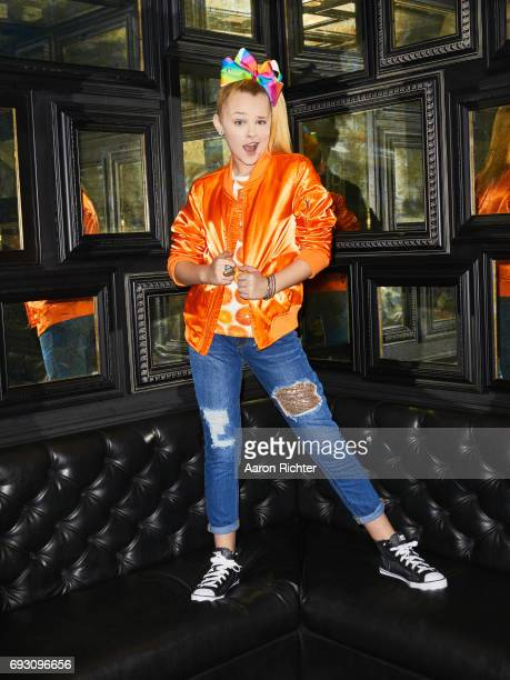 Singer actress Jojo Siwa is photographed for Tiger Beat on March 17 2017 at the Sugar Factory in New York City