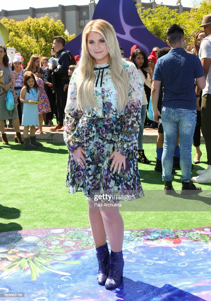 Singer / Actress Meghan Trainor attends the premiere of 'Smurfs: The Lost Village' at ArcLight Cinemas on April 1, 2017 in Culver City, California.