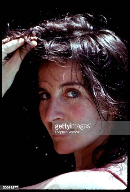 Singer actress nightclub performer Andrea Marcovicci looks glamourous as she stares into the camera on September 11 1983 in Bel Air California