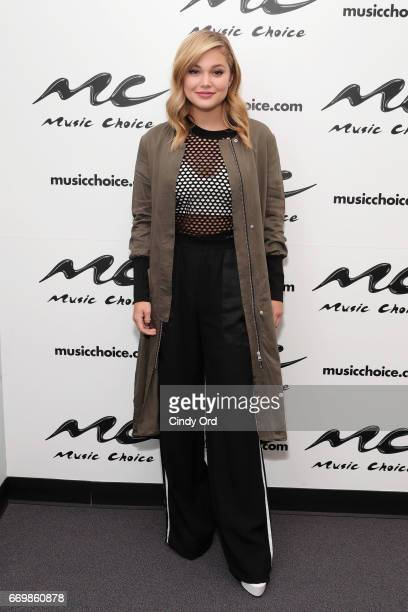 Singer/ actress Olivia Holt visits Music Choice on April 18 2017 in New York City