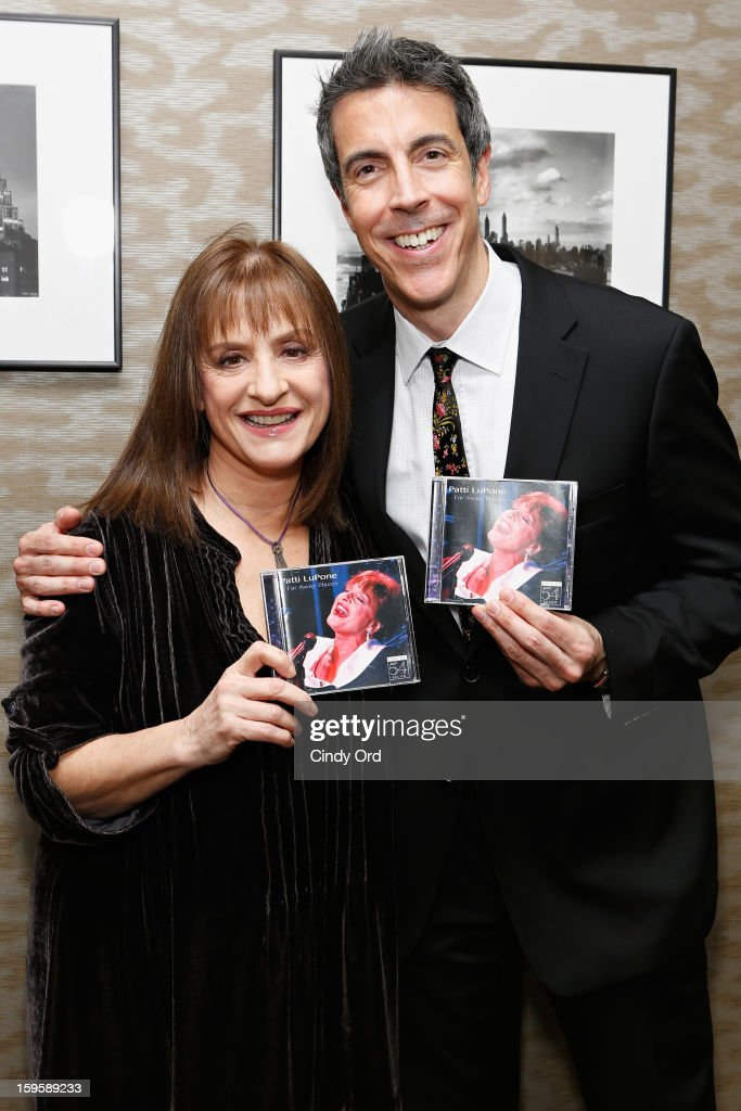 Singer/ actress Patti LuPone poses with composer Joseph Thalken prior to a performance and CD signing at Barnes & Noble, 86th & Lexington on January 16, 2013 in New York City.