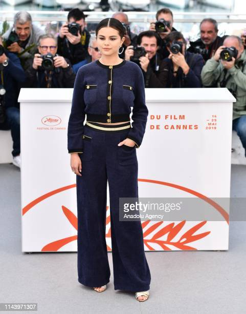 US singer actress Selena Gomez poses during the photocall for the film 'The Dead Don't Die' in competition at the 72nd annual Cannes Film Festival in...