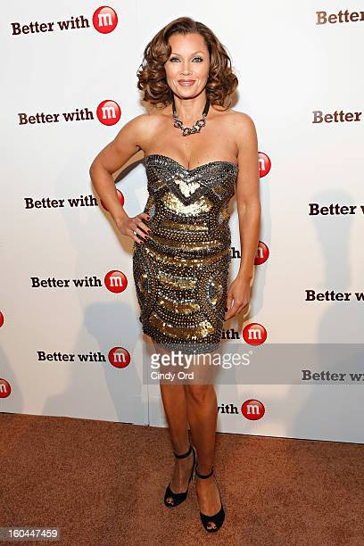 Singer/ actress Vanessa Williams attends the MM's Better With M Party at The Foundry on January 31 2013 in New Orleans Louisiana