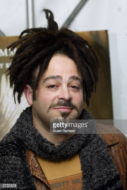 Singer Adam Duritz arrives for the screening of Angels In America at The Ziegfeld Theater November 4 2003 in New York City Angels in America is...