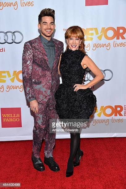 Singer Adam Lambert and comedian Kathy Griffin arrive at the TrevorLIVE Los Angeles Benefit celebrating The Trevor Project's 15th anniversary at the...