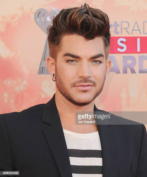 Singer Adam Lambert arrives at the 2015 iHeartRadio Music Awards at The Shrine Auditorium on March 29 2015 in Los Angeles California