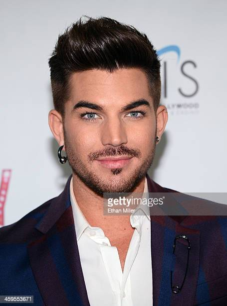 LAS Singer Adam Lambert arrives at the grand opening of Britney Spears' twoyear residency 'Britney Piece of Me' at Planet Hollywood Resort Casino on...
