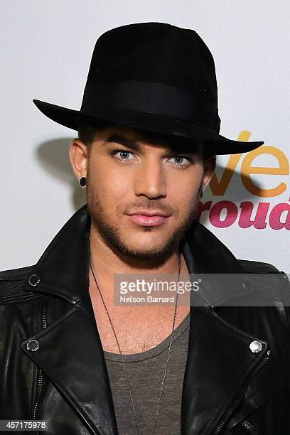 Singer Adam Lambert attends ATT Live Proud at Highline Ballroom on October 13 2014 in New York City