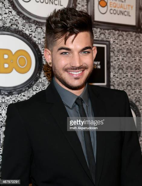 Singer Adam Lambert attends Family Equality Council's annual Los Angeles awards dinner at The Globe Theatre on February 8 2014 in Universal City...