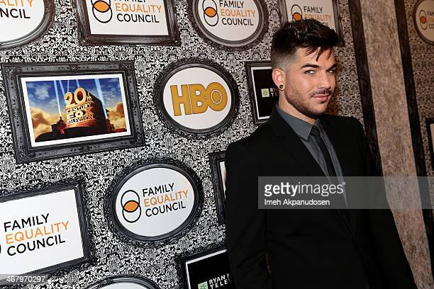 Singer Adam Lambert attends Family Equality Council's annual Los Angeles awards dinner at The Globe Theatre on February 8, 2014 in Universal City,...