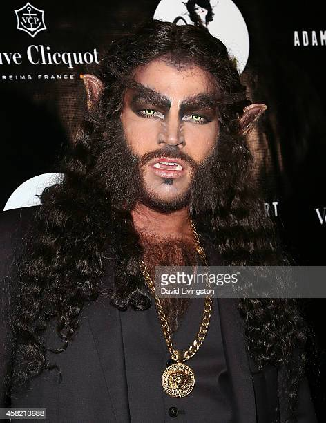 Singer Adam Lambert attends his 2nd Annual Halloween Bash at Bootsy Bellows on October 31 2014 in West Hollywood California