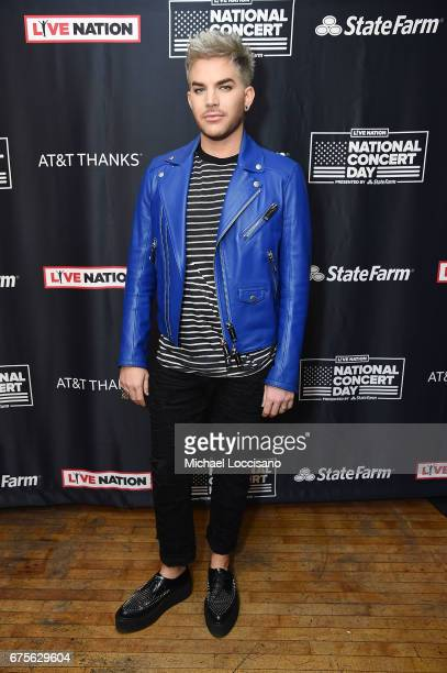 Singer Adam Lambert attends Live Nation's celebration of The 3rd Annual National Concert Day at Irving Plaza on May 1 2017 in New York City