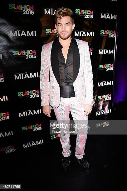 Singer Adam Lambert attends Miami Magazine's Splashion At Fillmore Miami Beach at Fillmore Miami Beach on July 14 2015 in Miami Beach Florida